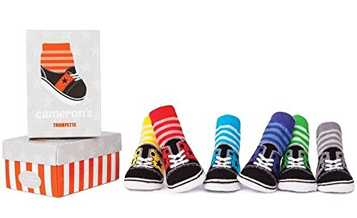Trumpette Baby-Boys 6 Pairs Socks, Cameron's - Assorted Colors, Infant (Best Socks For Tennis Shoes)