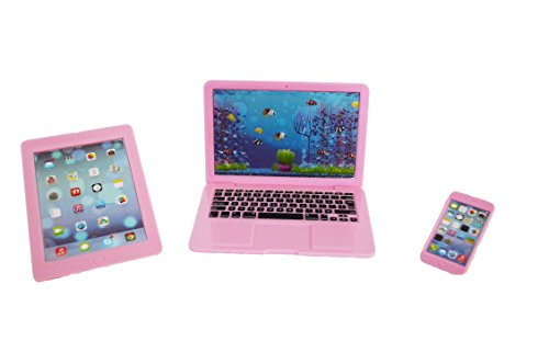 My Brittany's Pink Laptop, Tablet and Smart Phone for American Girl Dolls