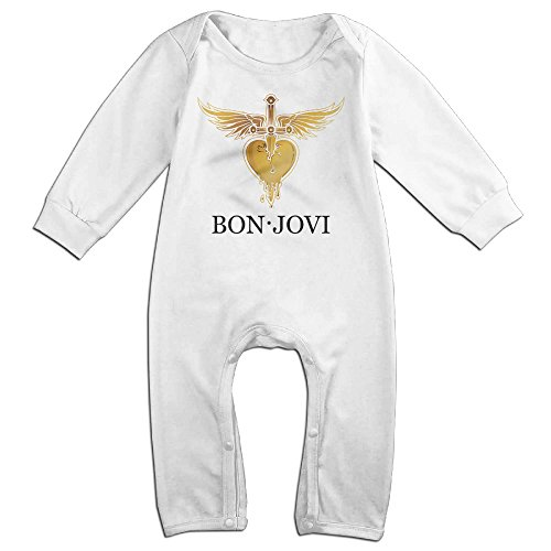 HOHOE Newborn Famous Rock Bank Singer Long Sleeve Bodysuit 12 Months