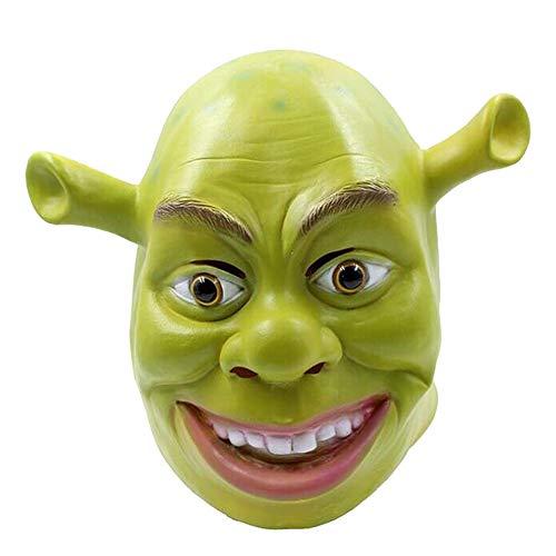 Shrek Mask Green Mask Shrek Mask Latex Halloween Cosplay Masquerade Carnivals Party Full Head - Shrek Latex