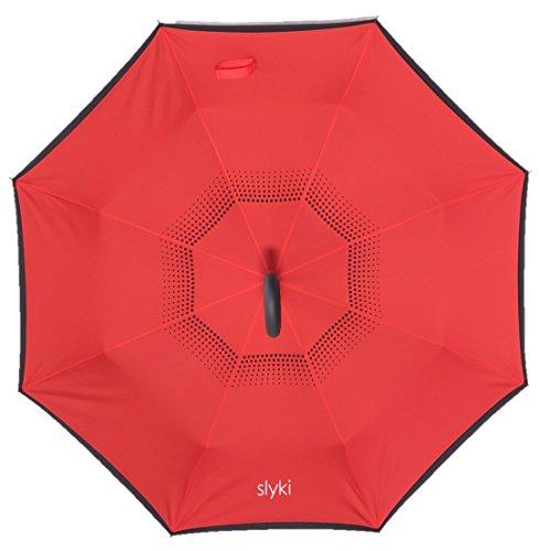 Paraguas invertido por slyki: artística y edición limitada designs-double capas reverso colorido lluvia paraguas - Durable del revés impermeable y ...