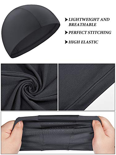 SATINIOR 6 Pieces Summer Face Cover UV Protection Neck Gaiter and 6 Pieces Cooling Skull Caps Beanie Helmet Line Hat for Women and Men