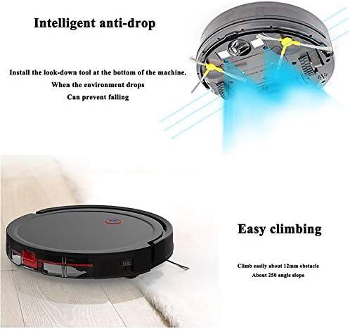Plan de Navigation gyroscopique, Multi-capteur, Robot de Balayage Trois en Un à Commande Intelligente, 1800PA, Ultra-Mince et Silencieux, adapté aux Poils d\'animaux, Divers étages