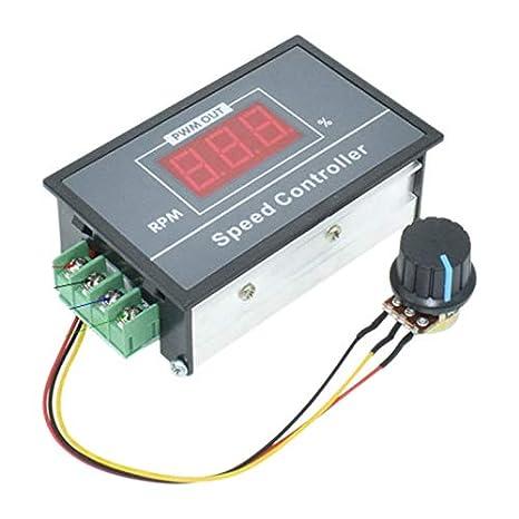 Pwm Dc Motor Speed Controller 0-100 Digital Display Stepless Speed Regulation Dc Motor