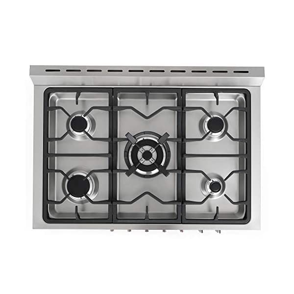 Cosmo F965 36 in. Dual Fuel Gas Range with 5 Sealed Burners, Convection Oven with 3.8 cu. ft. Capacity, 8 Functions… 6