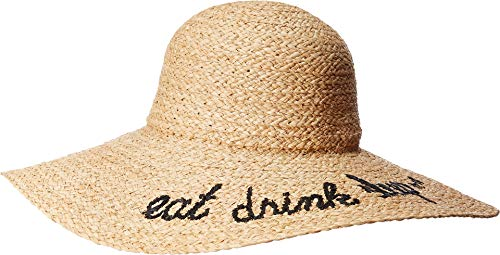 Hat Attack Women's What's Your Motto Sun Hat Eat Drink Sleep One Size