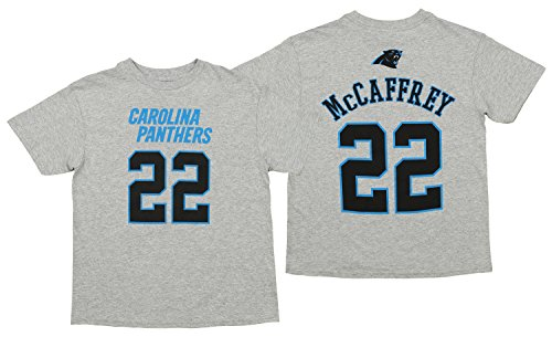 Outerstuff NFL Youth Panthers MCCAFFREY SS TEE MAINLINER Flat -H.GSize -