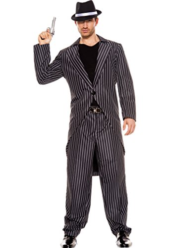 MUSIC LEGS Men's Male Mafia, Black, (Mens Mafia Costume)