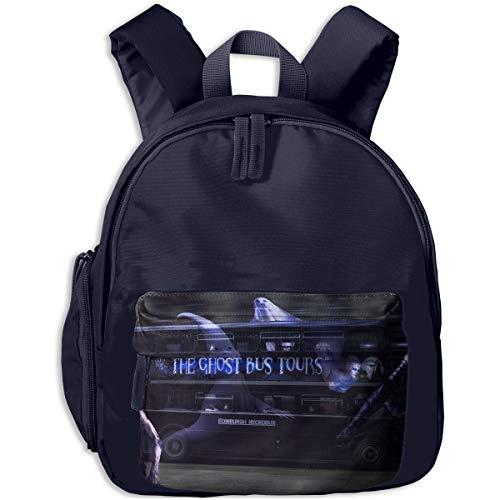 Cool Halloween Ghost Tour Bus Children Backpack Pocket Zipper Outdoor Travel School Book Bag ()