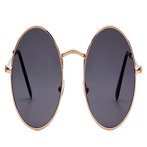 Summer Retro Round Sunglasses Men Women Circle Black Red Pink Lens Sun Glasses (Best Blender For Ice Australia)