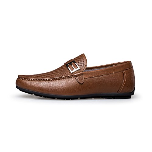 ZRO Men's Summer Casual Buckle Slip-On Hollow Breathable Brown US 8.5 by ZRO (Image #1)