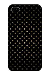 Ednahailey High Quality Shock Absorbing Case For Iphone 4/4s-golden Flowers Pattern