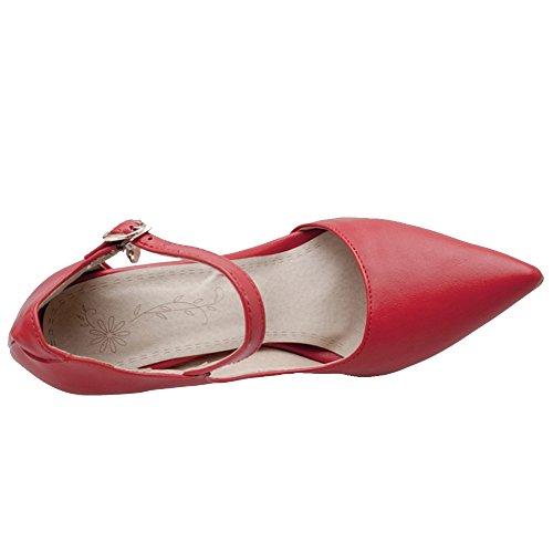 Coolcept Women Elegant D'Orsay Shoes Heels Red gwtEfg