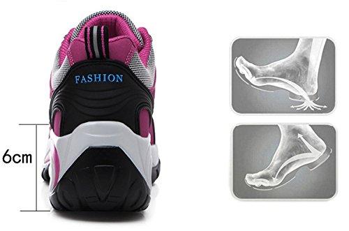 RAINSTAR Womens Outdoor Sport Hiking Shoes Breathable Climbing Walking Sneaker Rose Red KrJdK