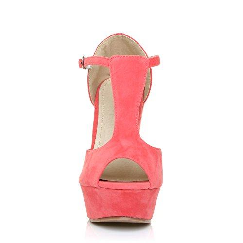 Corail UK unique Sandales Suède femme ShuWish pour Taille Rose n4YZwxq6