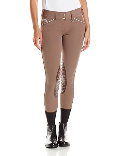 Equine Couture Women 's Brittni膝パッチBreech by Equine Couture B013XQPC2I