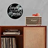 Everything is Better with Music Lyric Quote on a
