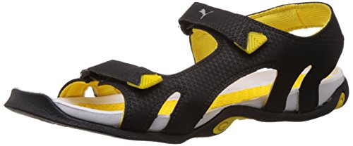Puma Men's Jamey DP Black and Dandelion Athletic & Outdoor Sandals - 6 UK/India (39 EU)