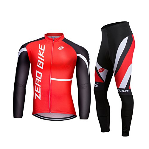 (ZEROBIKE® Men's Soft Long Sleeve Breathable Bicycle Cycling Jersey Polyester Clothing Outdoor Sports Fall Autumn )