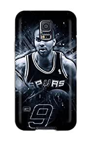 Galaxy High Quality Tpu Case/ Tony Parker Spurs San Antonio Ball Spurs Basketball Nba PRaMLIz747IfmdB Case Cover For Galaxy S5