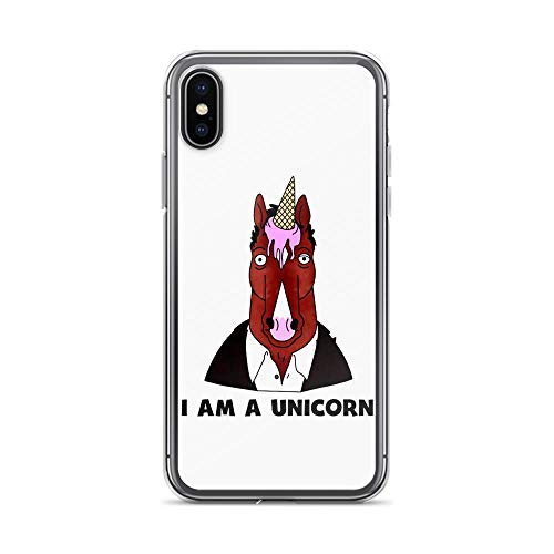 (iPhone X/XS Pure Clear Case Cover Horse with Ice-Cream I Am A Unicorn)