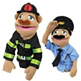 Melissa and Doug Police Officer & FireFighter Puppets by Melissa & Doug