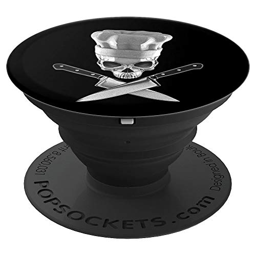 Gothic Chef Cook Skull For Men and Women - PopSockets Grip and Stand for Phones and Tablets ()