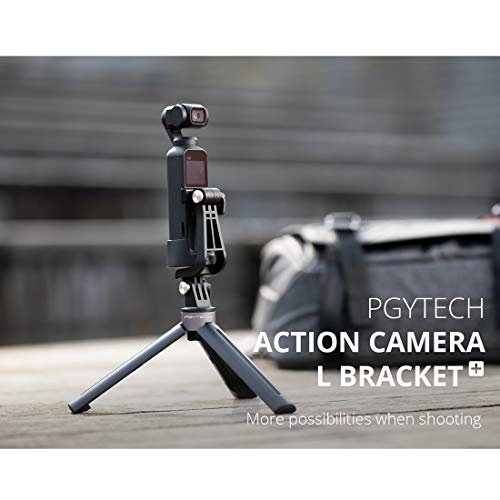 Haoun PGYTECH Upgrade Action Camera L-Type Adapter Bracket+ Plus for DJI OSMO Pocket,with a USB Reader