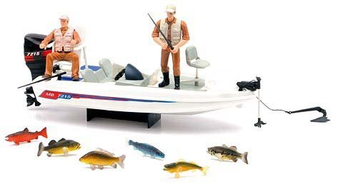Wild Hunting New Ray Boat Fishing Playset (Toy Bass Boat)