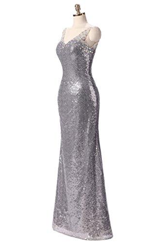 Ysmo - Vestido - para mujer beige oro rosa 46