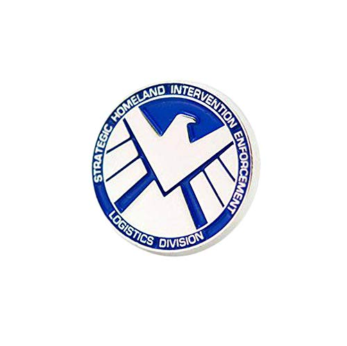 (Gankchen Agents of Cosplay Shield Pins Zinc Alloy Badge Unisex Brooch Christmas Gift)