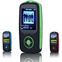 HONGYU® X06, 80 Hours Continuous Playback 4gb Bluetooth Mp3 Music Player Multifunctional Mp3 with Bluetooth 4.0 (Micro Sd Card Supports to 64gb) (Bluetooth Player Green)