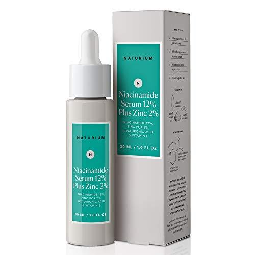 Niacinamide Serum 12% Plus Zinc 2% - 1oz, Vitamin B3, Minimize Pores, Balance Oil Production, Anti Aging, Wrinkles, Fine Lines, Facial Serum with Niacinamide, Hyaluronic Acid & Vitamin E