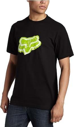 FOX Men's Sticker T-Shirt,Black/Green, 28