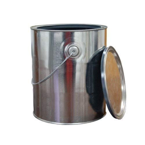 1 Gallon Unlined Metal Paint Cans w/Lid + Ears & Handle