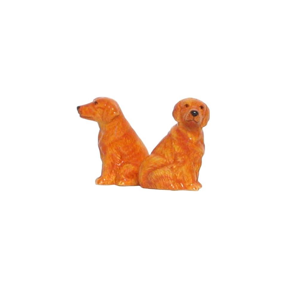 Ceramic Pottery Golden Retriever Dog Salt and Pepper