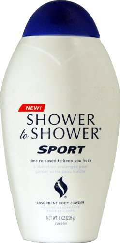 SHOWER TO SHOWER Body Powder Sport 8 oz (Pack of 2) by Shower To Shower
