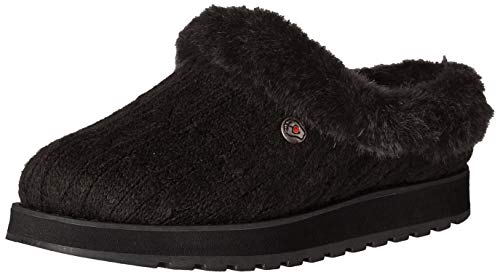 Skechers BOBS Women's Keepsakes Ice Angel Slipper, BBK, 7 M US (Cold Christmas Captain)