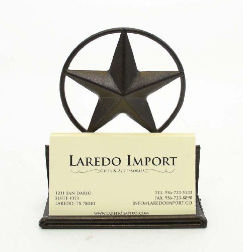 Star Iron Business Card Holder