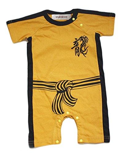 StylesILove Baby Boy Kungfu Dragon Costume Jumpsuit (95/18-24 Months) (Bruce Lee Outfits)