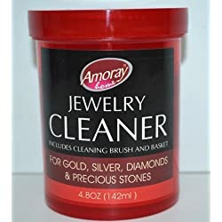 The Liquid Cleaner cleans,Jewelry Cleaner Solution Safely Clean all Jewelry Gold Silver & Diamonds