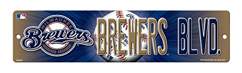 MLB Milwaukee Brewers High-Res Plastic Street Sign