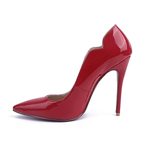 Women's Fashion MA04127 Patent Dress TDA Classic Red Pumps Leather Slender Rwpqq