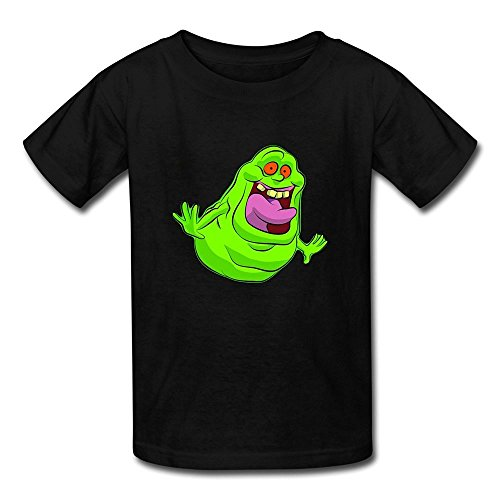 Ghostbuster T Shirts For Kids (Funny 100% Cotton Ghostbusters Slimer Logo Kids Boys And Girls T Shirt Black Size S)