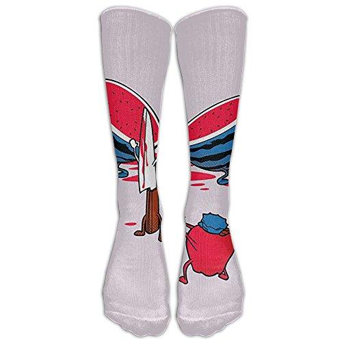 FUNINDIY Hands Up, Don't Move Compression Socks Soccer Socks High Socks Long Socks For Running,Medical,Athletic,Edema,Diabetic,Varicose Veins,Travel,Pregnancy,Shin Splints,Nursing.