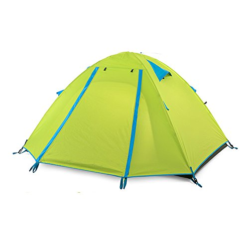 ダンス矢技術QFFL zhangpeng テントダブルデッキレインフォール?ビーチサンプロテクションテント屋外スプリング3-4人キャンプテント4色オプション トンネルテント ( 色 : オレンジ , サイズ さいず : Professional-3 )