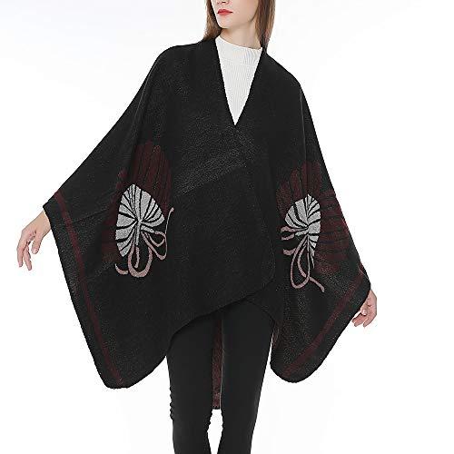 Châle Ponchos Usure Rouge Vin xinantime Femme Manteau Parka Cardigans Cachemire Pull Veste Cardigan XqRIWSwA