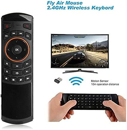 Calvas Wireless Mouse X6 2.4GHz Wireless Learning Keyboard Intelligent Voice Remote Control for Android Smart TV Box PC Tablet