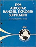 1996 Ford Aerostar Ranger Explorer Repair Shop Manual Supplement Original