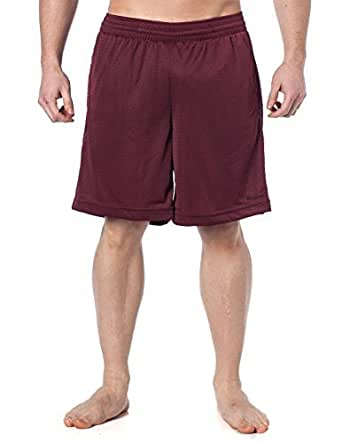 Reebok Men's Performance Gym shorts with pockets - Maroon S